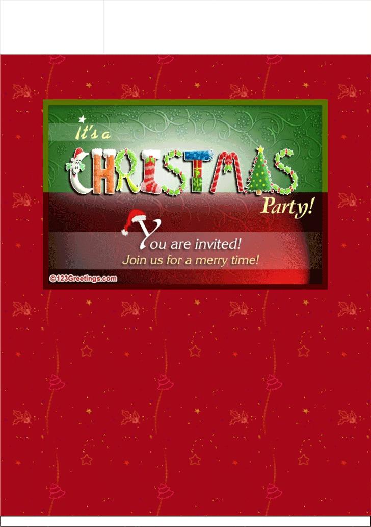 Christmas Invitation Template 1