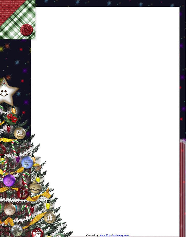 Christmas Letterhead Template 3