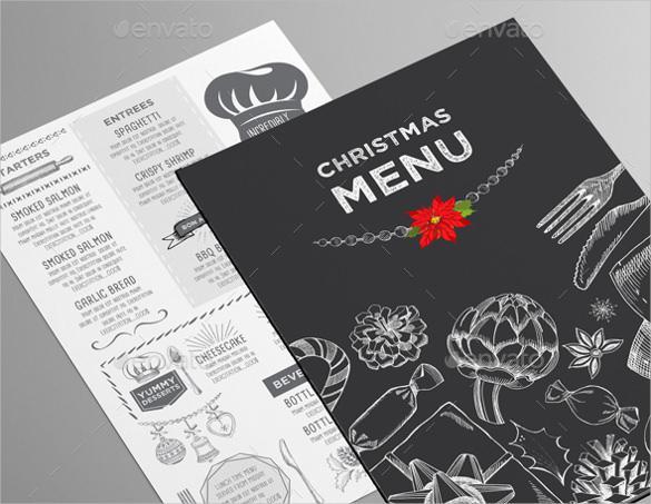 Christmas Menu for Restaurant Template
