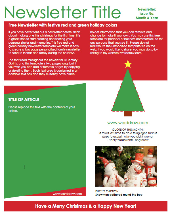 Christmas Newsletter 3
