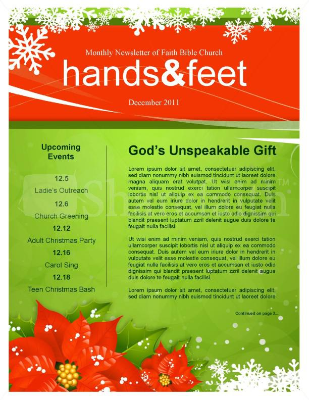 Christmas Newsletter Template Free Download