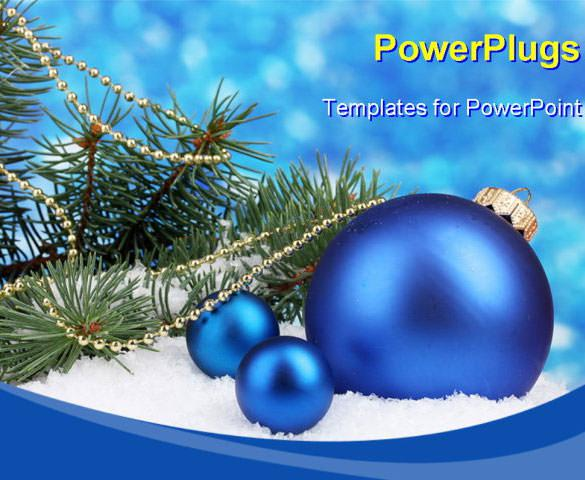 Christmas PowerPoint Template With Ball and Tree