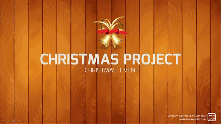 Christmas Project PowerPoint Presentation Template PSD Layered