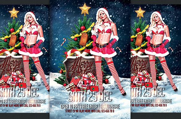 Christmas Sexy Flyer Template Doc File Download
