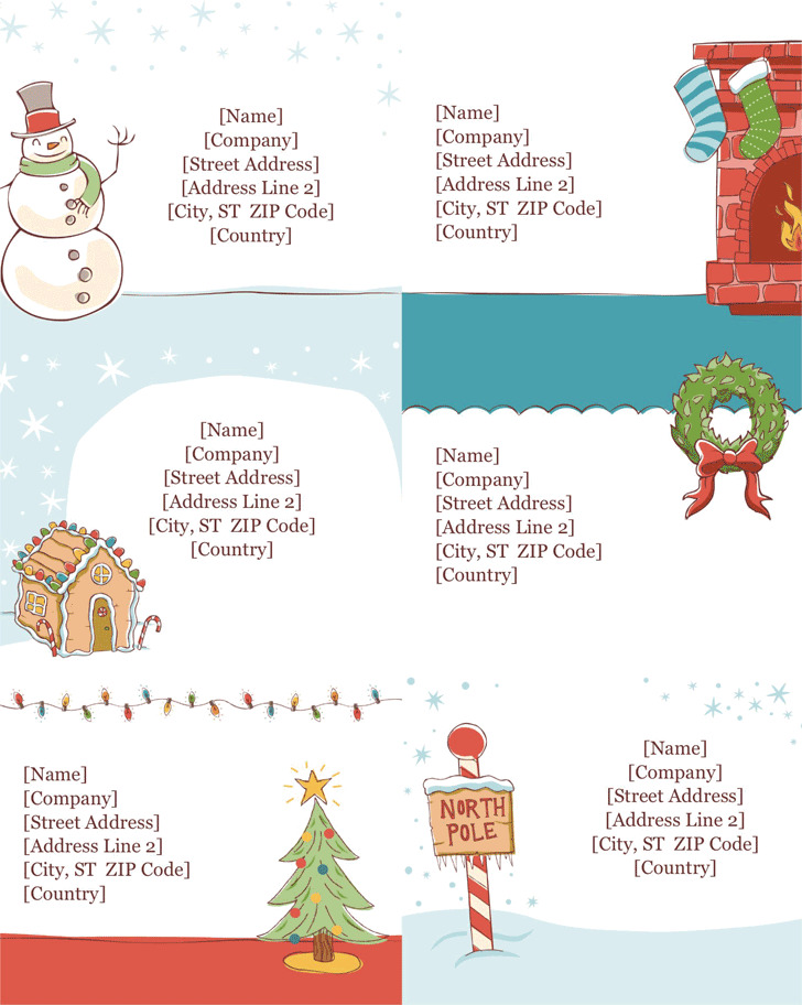 Christmas Shipping Label Template