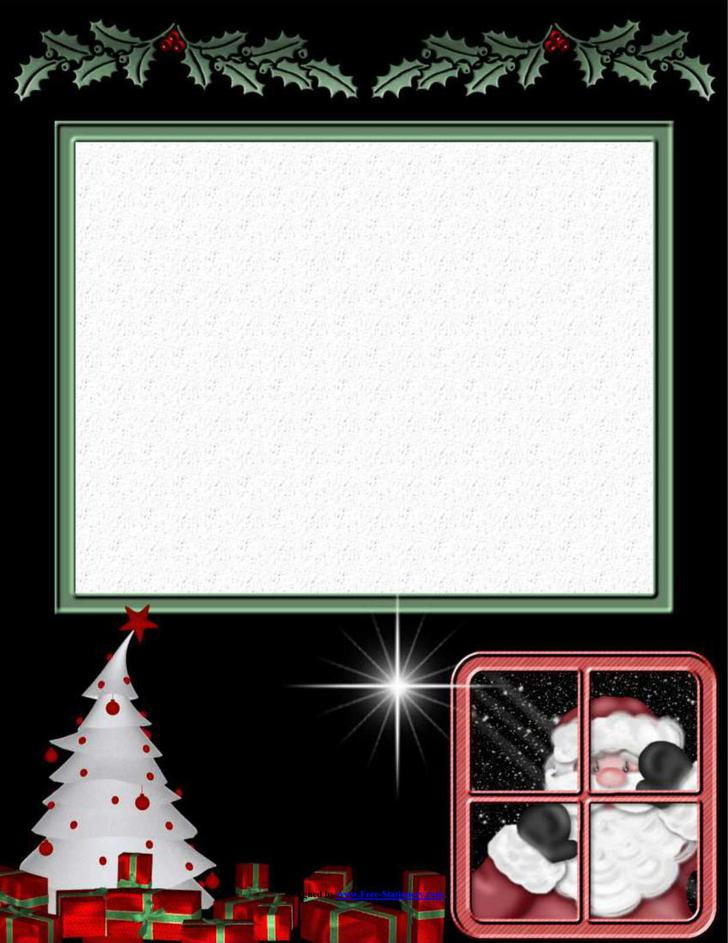 Christmas Stationary Download Printable Papers