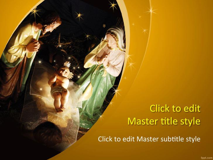 Christmas Template Nativity of Jesus PowerPoint Format