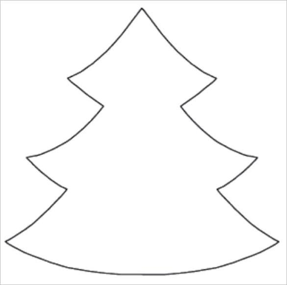 Christmas Tree Template for Coloring