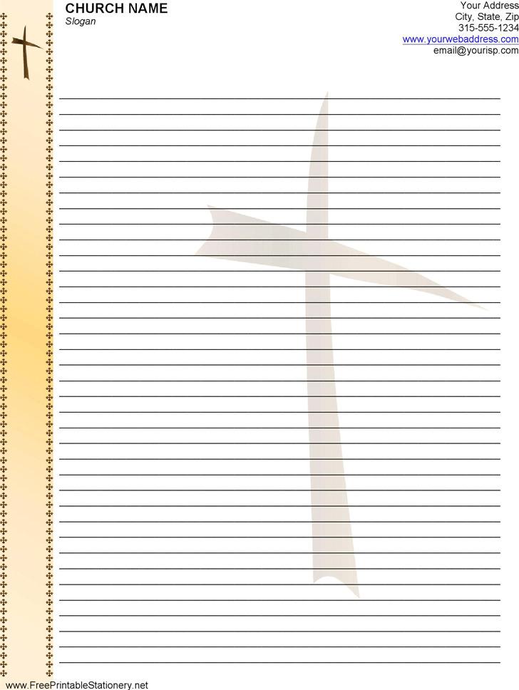 Church Letterhead Template 1