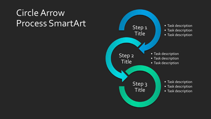 4 smartart powerpoint templates free download