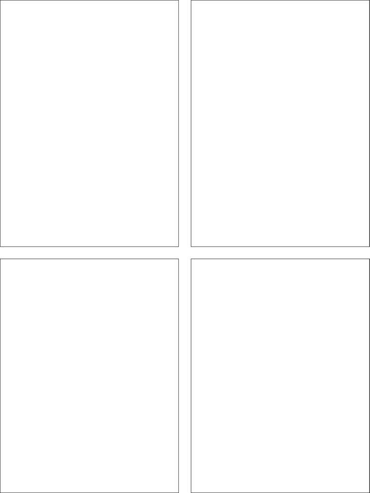 Classic - Comic Strip Templates-Blank Comic - 4 Panels