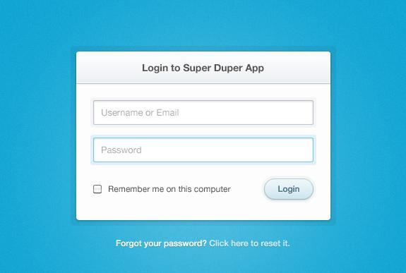 Classic HTML Login Form Template