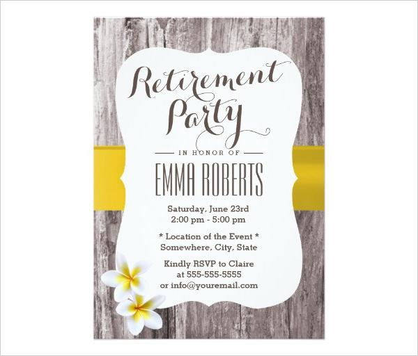 Classy Background Retirement Party Invitation