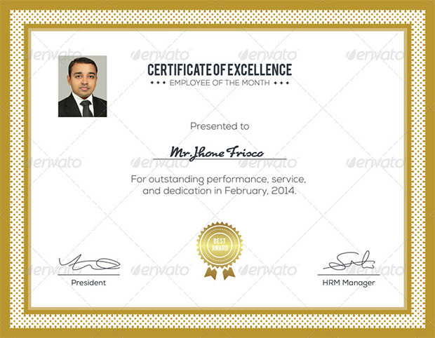 Clean Award Certificate Template