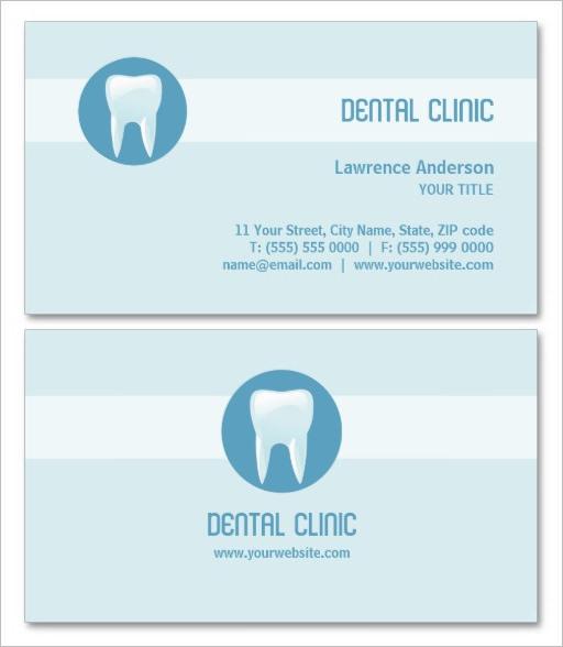 Clean Dental Clinic Business Card