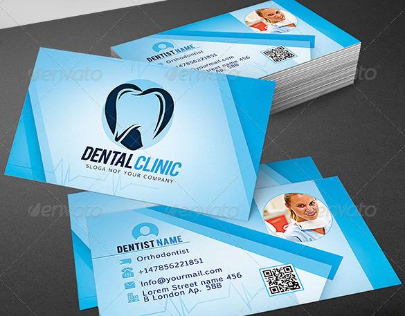 Clean Dentist Business Card PSD Format