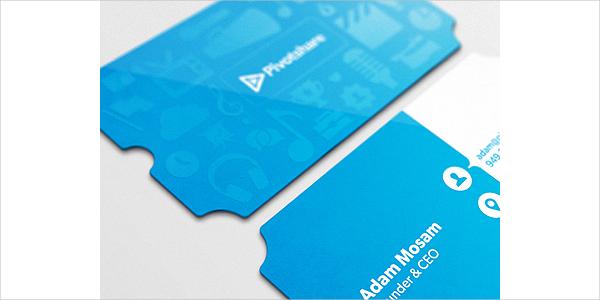 Clean Die Cut Business Card
