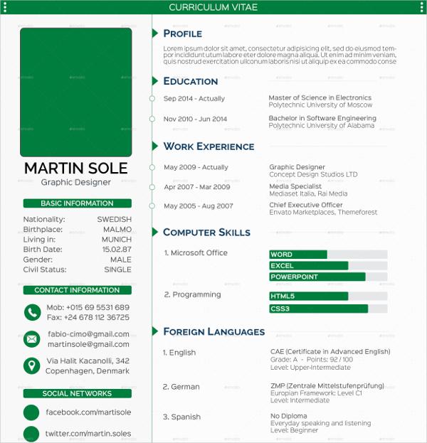 Clean Multipurpose Resume Template