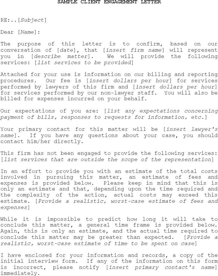 Client Engagement Letter Sample