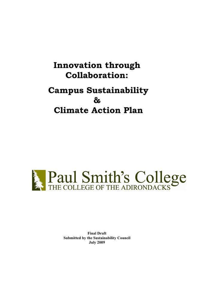 Climate Action Plan Word Document