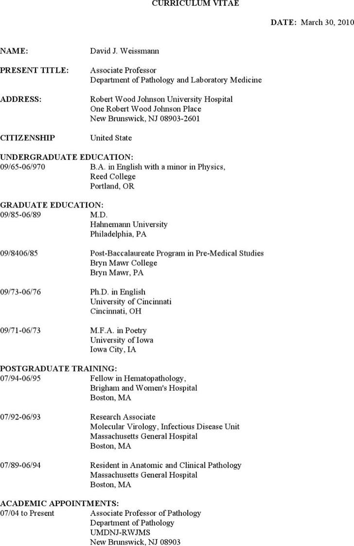 Clinical Pathologist Resume