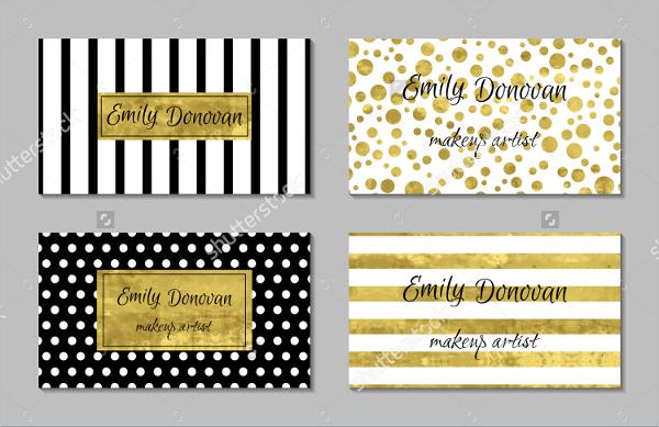 Color Gold Foil Business Card