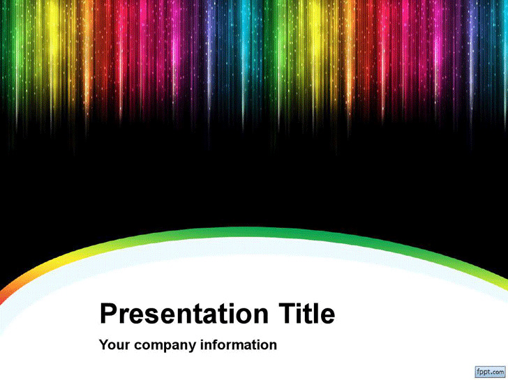 Color Rain PowerPoint Template