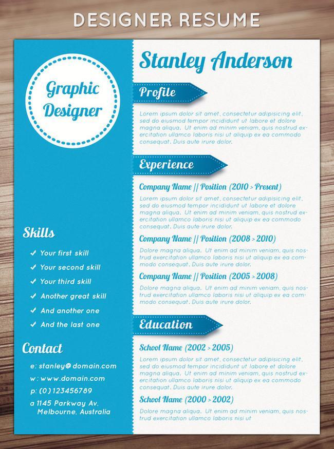 Colourful Basic Resume Template