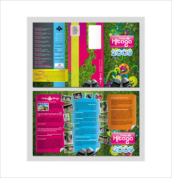Colourful Camp Brochure Template