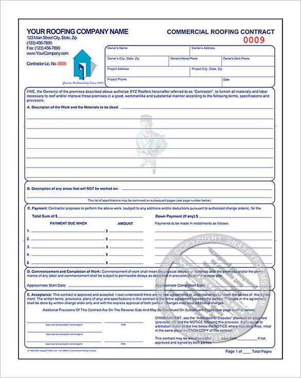10  roofing estimate template free download