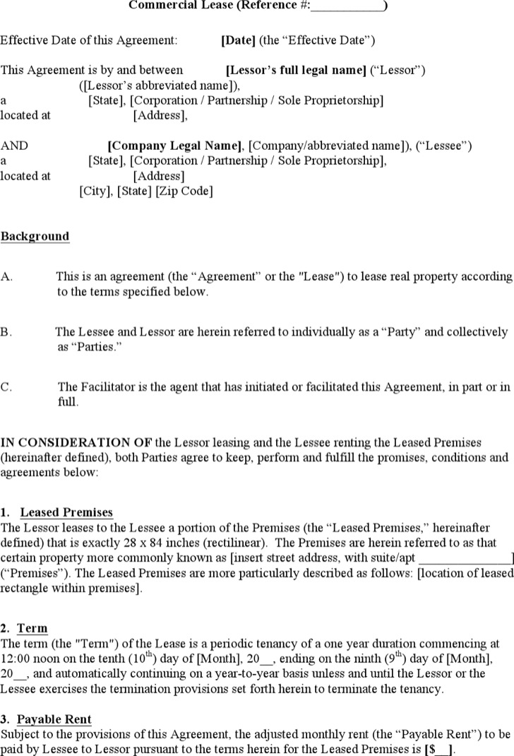 Commercial Sub Lease Agreement