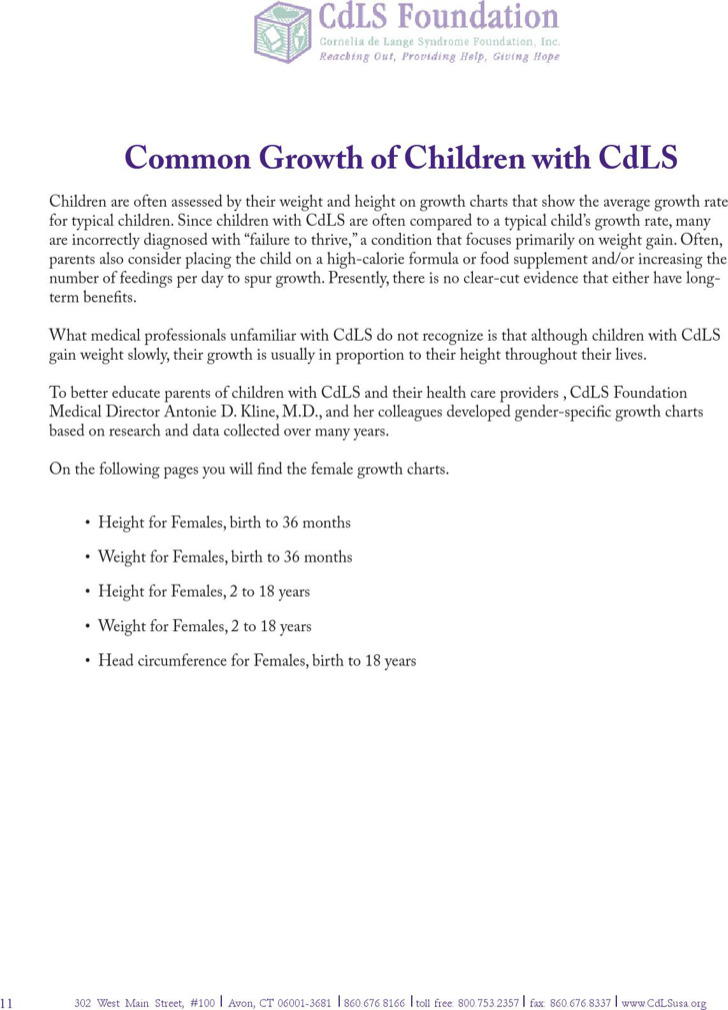 Common Growth Chart Template For Baby Girl