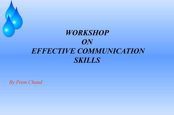 Communication - Skills