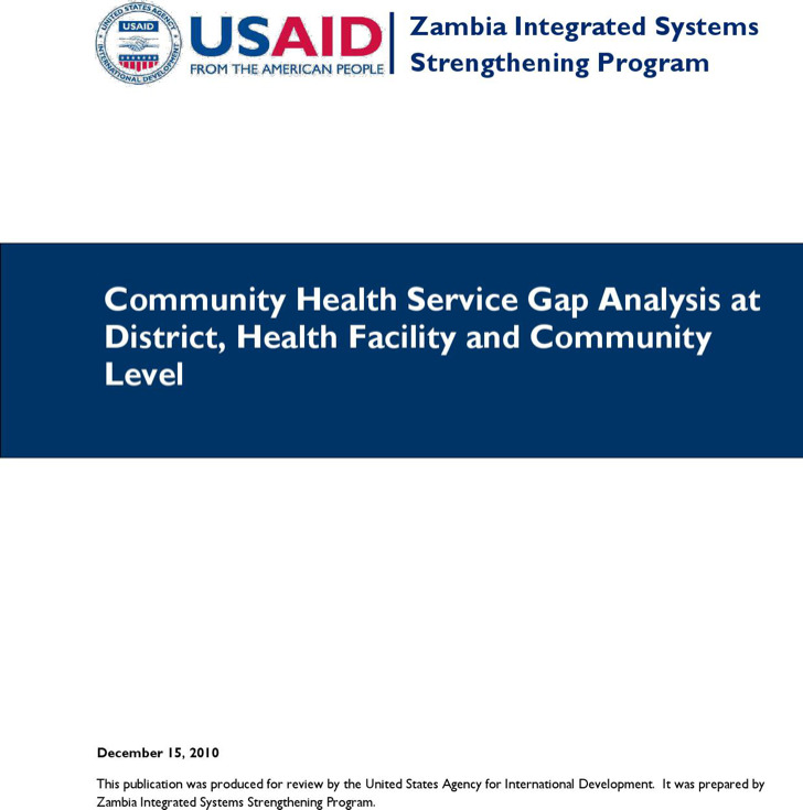 Community Health Care Gap Analysis