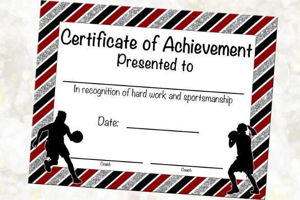 Completion Certificate of Basketball Download