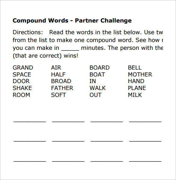 8 Vocabulary Worksheet Templates Free Download