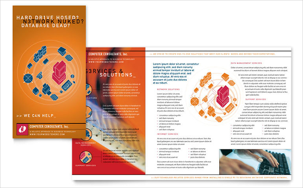 Computer Consulting Company Brochure Template