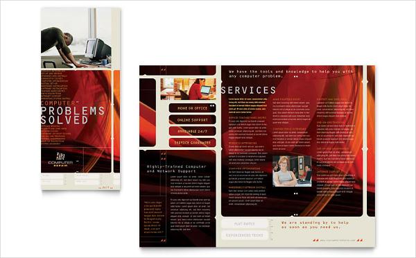 Computer Repair Brochure Template
