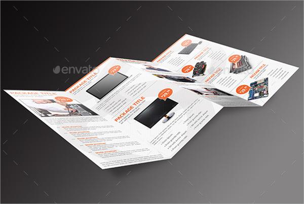 Computer Service 4-Panel Brochure