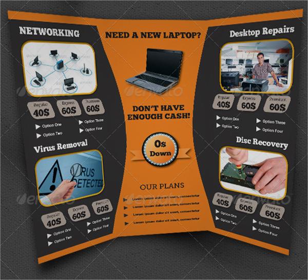 Computer Service Trifold Brochure