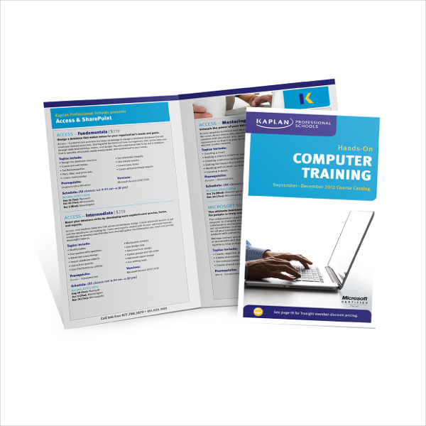 Computer Training brochure