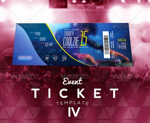 Concert Event Ticket Template Photoshop
