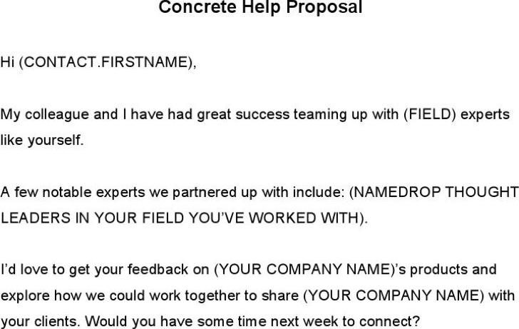 Concrete Help Proposal