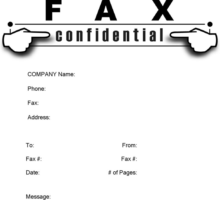 3 confidential fax cover sheet free download