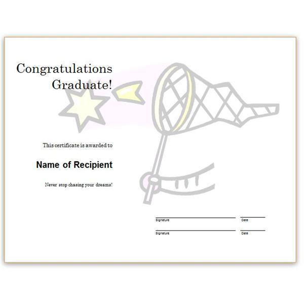 Congratulation Word Certificate Template Free