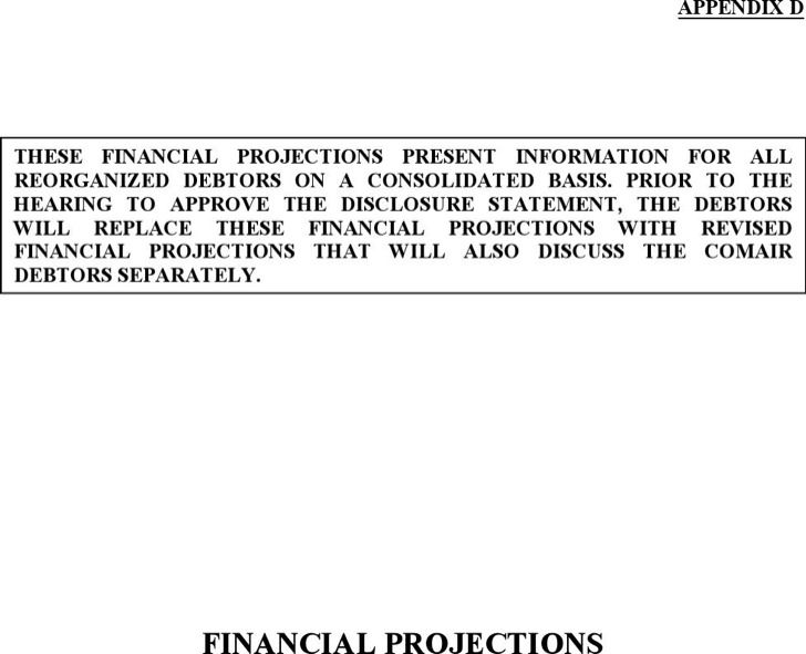 Consolidated Financial Projection