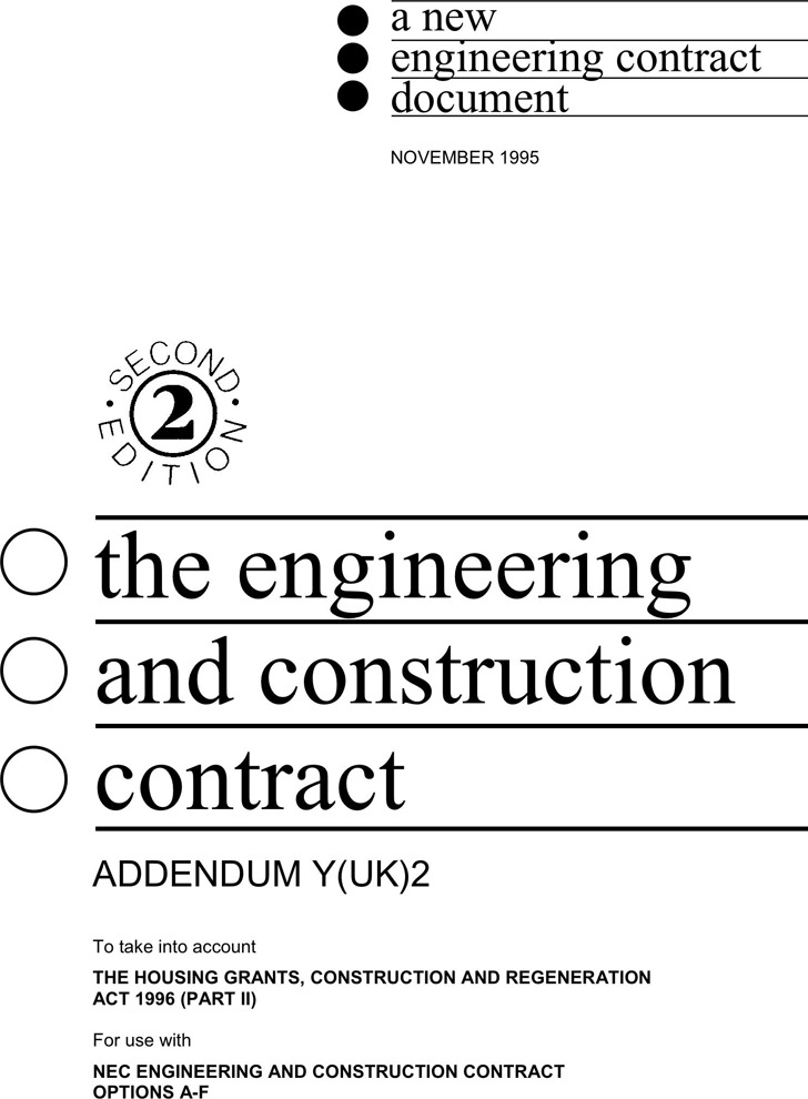 The Engineering and Construction Contract