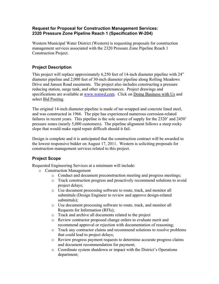 Construction Management Proposal PDF Download