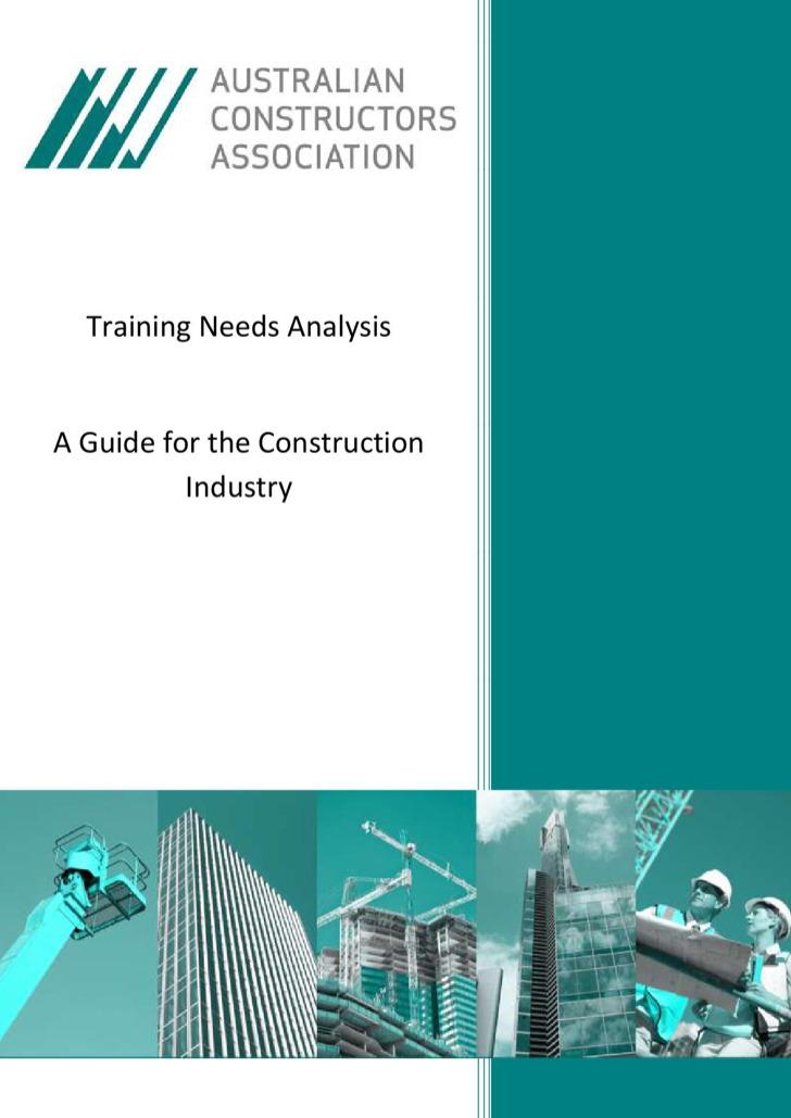 Construction Training Needs Analysis Template