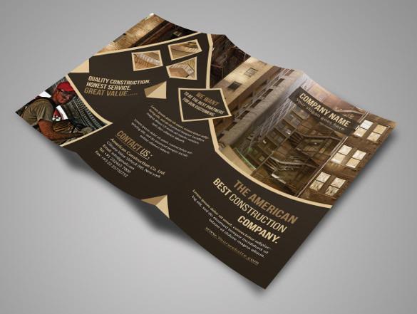 Construction Tri-Fold Brochure